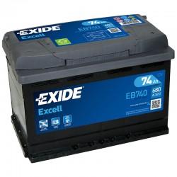 Exide Excell EB740 12V 74Ah...